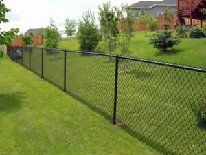ISO:: 200ft, of 5ft tall black chain link fence