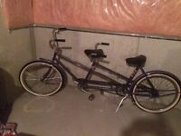 Ccm tandem bike purple with white walls