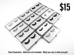 NEW - $15 False Eyelashes, Natural Hair