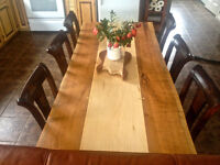 INVENTORY CLEAR-OUT  8 person Hardwood DINING table WOW