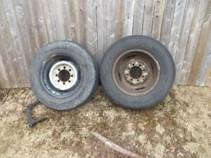 Two  3/4 Ton 8 Hole Ford Rims