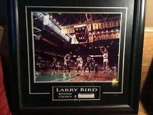 Larry Bird signed / framed picture