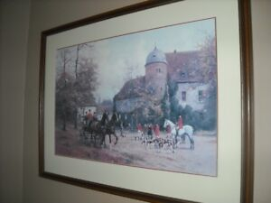 Vintage Beautiful Print  - Arriving for the Hunt