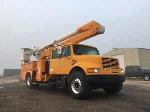 1998 International 4900 Crew Cab Bucket Truck