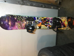 Sims snowboard with Ride bindings