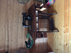 Treadle sewing machine also electric Prince George British Columbia image 2