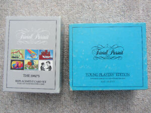 Two Sets Of Trivial Pursuit Replacement Card Sets
