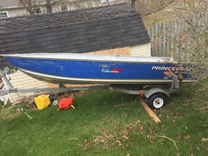 14' princecraft on trailer and motor