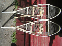 Snowshoes Military type. White