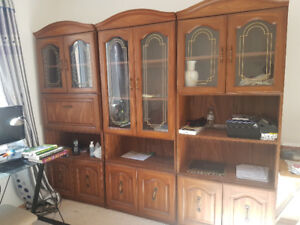 Selling three cabinets and a sofa bed for $180.
