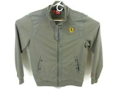Puma Sport Lifestyle Mens Medium Long Sleeve Full Zip Ferrari Jacket Pockets