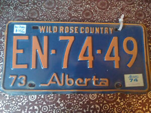 Assorted 1970's Licence plate SETS