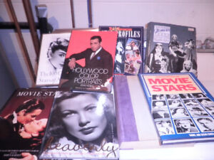 Unique hard cover moviestar books from the twenties and up to 70