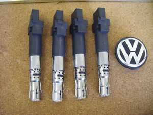 New Set of 4 Ignition Coil VW  Glof , Jetta & Seat  022905100N