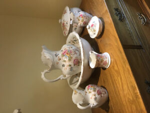 Antique English 6 piece washing set - excellent condition