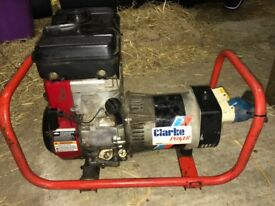 Clark power 110 &240 volts Petrol Generator