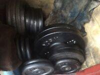 170kg standard cast iron weight plates