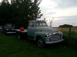 1955 Stage 1 Dual Wheel Stake Truck & 1949 Chev 3100