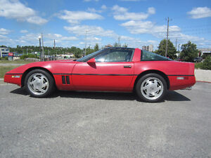 1989 red corvette for sale