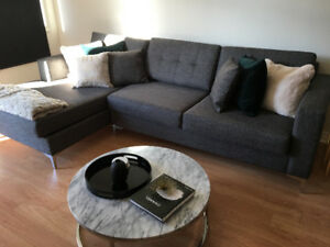 Distinctly Home Jorge Sectional Sofa in Grey