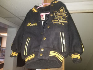 2002 Gold medal Olympic NHL Roots child's leather jacket
