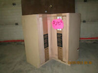 Brand new unfinished oak cabinets