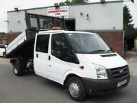 2012 FORD TRANSIT CREW D/CAB 115PS ONE STOP TIPPER DROPSIDE, BEST IN UK!!