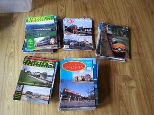 Various railfan magazines. Trains railroad railway