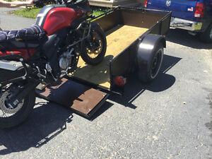 TRAILER pour MOTO ,QUAD, Chargement facile