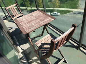 IKEA Table and Chairs - Folding Wood Patio Outdoor Set