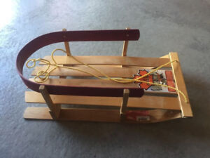 Jab wood baby infant snow sled excellent condition