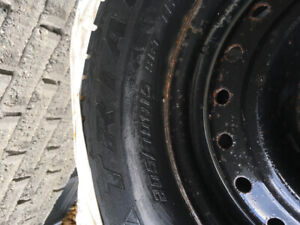 4 snow tires on GM rims