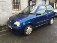 2002-02 Fiat Seicento 1.1SX Genuine 22000 Miles Mot May 2018