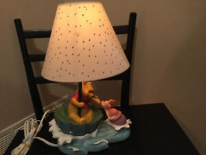 Rare Kids Disney Lamp - Winnie the Pooh and Piglet In Water