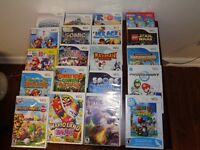 Wii video games for sale in like new condition most with manuals