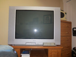 """SONY 32"""" Colour T.V. and wood stand"""