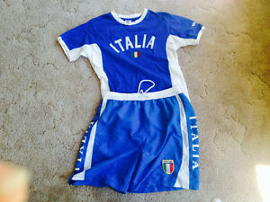 YOUTH 'S SHORTs&SHIRT(TEAM ITALY ) XL