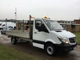 2015 15 MERCEDES-BENZ SPRINTER 2.1 313CDI DROPSIDE 130BHP LWB FLATBED. NEW SHAPE