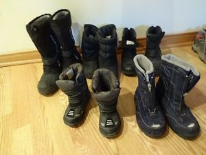 Boys' winter boots sizes 9,12, 2,3,7