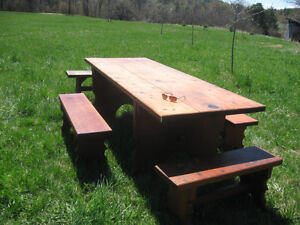 Rustic pine table