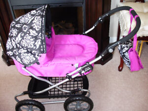 SPECIAL DOLL CARRIAGE FOR A SPECIAL LITTLE GIRL, MATCHING DIAPER