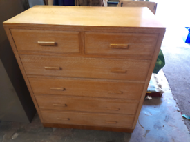 Antique Limed Oak Chest of Drawers