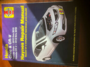 Hanyes manual for 2012-2016 crv and 2012-2015  civic