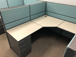 """Teknion 6'x5'x51""""H workstations in CLEAN As is Condition ForSale"""