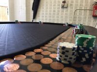 Custom poker tabke