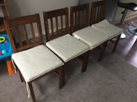 4 chairs dining chestnut