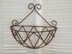 SALE PRICE! -French Scroll Wire Hanging Plant Holder
