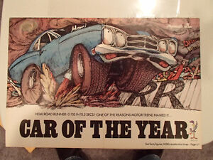 VINTAGE 1969 PLYMOUTH HEMI ROAD RUNNER 1969 CAR-OF-THE-YEAR TWO-