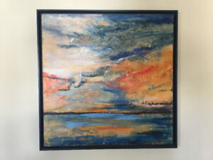 Large Modern Original Encaustic Painting