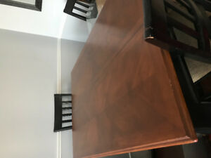Solid wood pub style dinning table